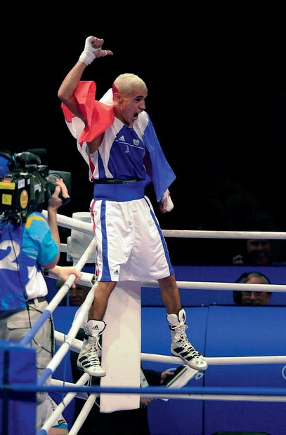 Sydney 2000. Brahim Asloum, boxe © Michel...