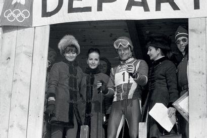 Grenoble 1968. Audrey Hepburn, Jean-Claude...