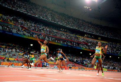 Pékin 2008. Shelly-Ann Fraser, 100m © Alain...