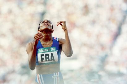 Atlanta 1996. Marie-José Pérec, 4x100m ©...