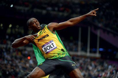Londres 2012. Usain Bolt, 100m © Pascal Rondeau/L'Équipe...
