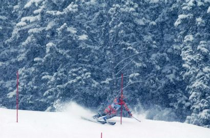 Salt Lake City 2002. Vanessa Vidal, ski alpin...