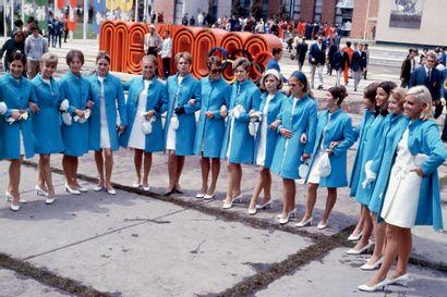 Mexico 1968. Délégation française à la cérémonie...