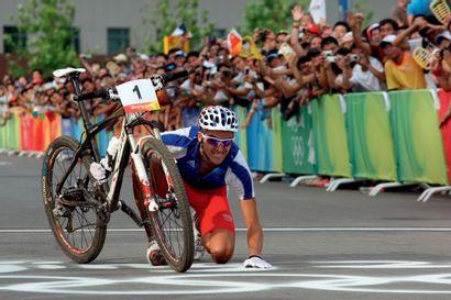 Pékin 2008. Julien Absalon, VTT © Pierre...