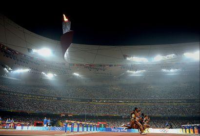 Pékin 2008. 100m haies © Jérôme Prévost/L'Équipe...