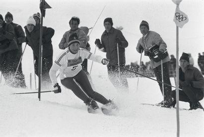Grenoble 1968. Marielle Goitschel, ski alpin...