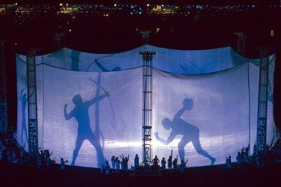 Atlanta 1996. Cérémonie d'ouverture © Michel Deschamps/L'Équipe 19 juillet 1996....