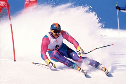 Albertville 1992. Alberto Tomba, ski alpin...