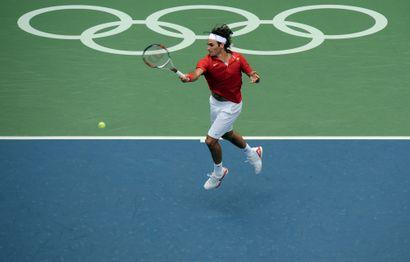 Pékin 2008. Roger Federer, tennis © Jérôme...