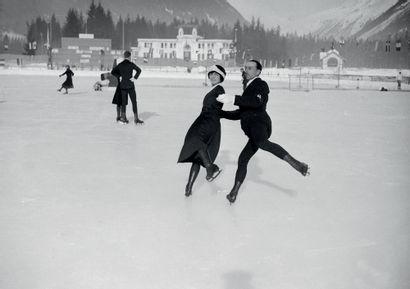Chamonix 1924. Andrée Joly-Pierre Brunet,...