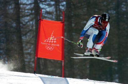 Turin 2006. Antoine Deneriaz, ski alpin (descente)...