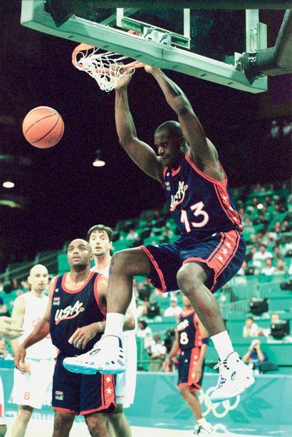 Atlanta 1996. Shaquille O'Neal, basket-ball...