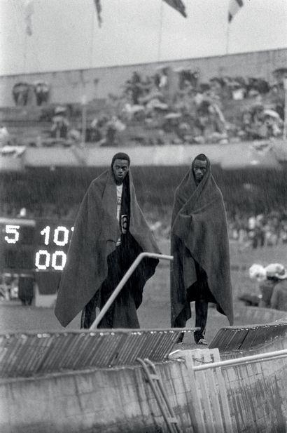Mexico 1968. Ralph Boston, Bob Beamon, saut...