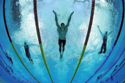 Pékin 2008. Michael Phelps, natation © Richard...