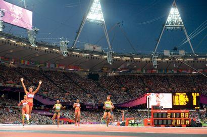 Londres 2012. Allyson Felix, 200m © Pascal...