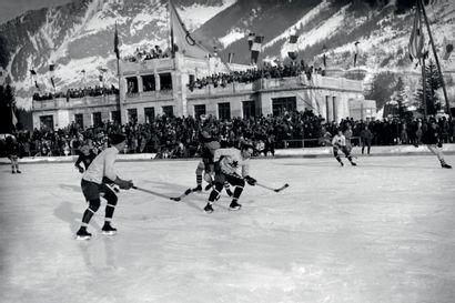 Chamonix 1924. Canada - Etats-Unis, hockey...