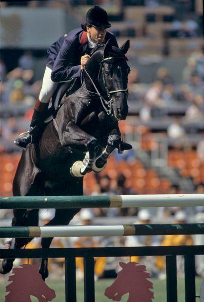 Séoul 1988. Pierre Durand et Jappeloup, saut...