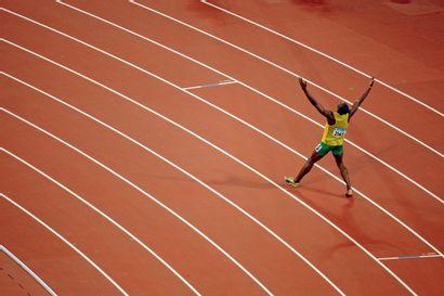 Pékin 2008. Usain Bolt, 200m © Jérôme Prévost/L'Équipe...
