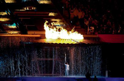 Sydney 2000. Cathy Freeman, cérémonie d'ouverture...