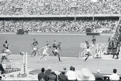 Mexico 1968. 200m © André Lecoq/L'Équipe...