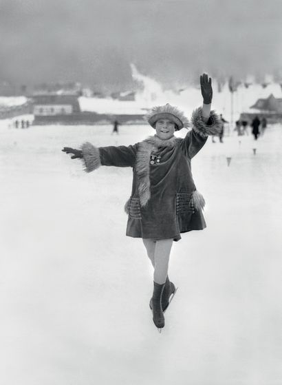 Chamonix 1924. Sonja Henie, patinage artistique...