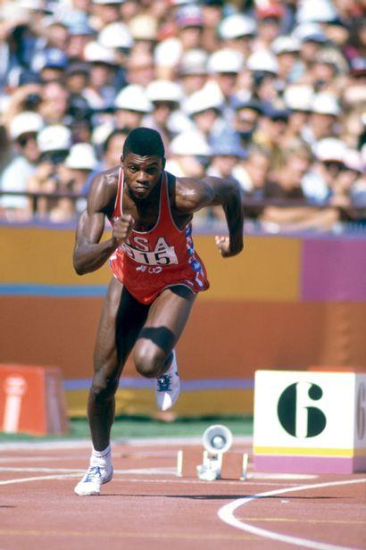 Los Angeles 1984. Carl Lewis, 200m © André...