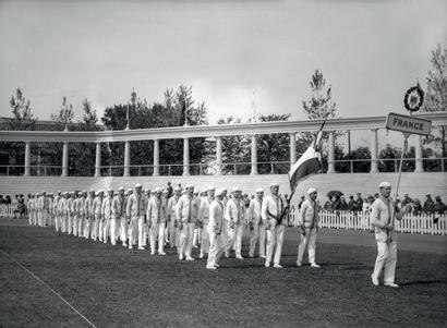 Anvers 1920. Délégation française à la cérémonie...
