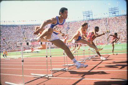 Los Angeles 1984. Stéphane Caristan, 110m...