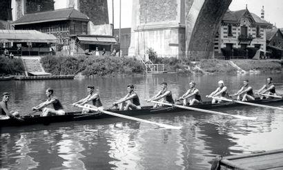 Paris 1924. Le huit australien à Nogent-sur-Marne,...