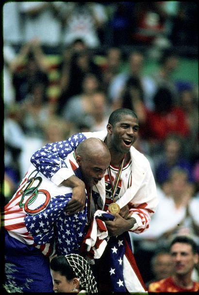 Barcelone 1992. Charles Barkley, Magic Johnson,...