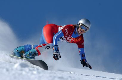 Salt Lake City 2002. Isabelle Blanc, snowboard...