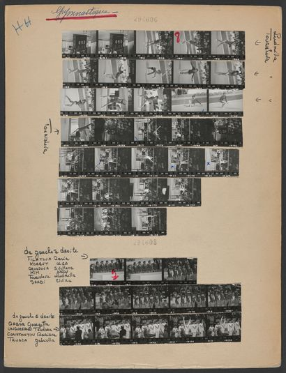 JO 1976 © Robert Legros/L'Équipe Montréal 1976. Concours par équipes de gymnastique,...