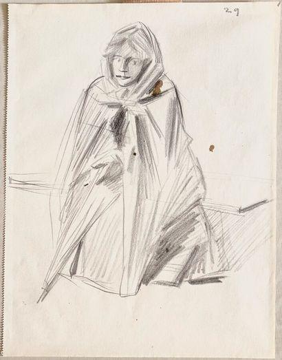 Jean-Louis FORAIN (1852-1931)  Femme au manteau...