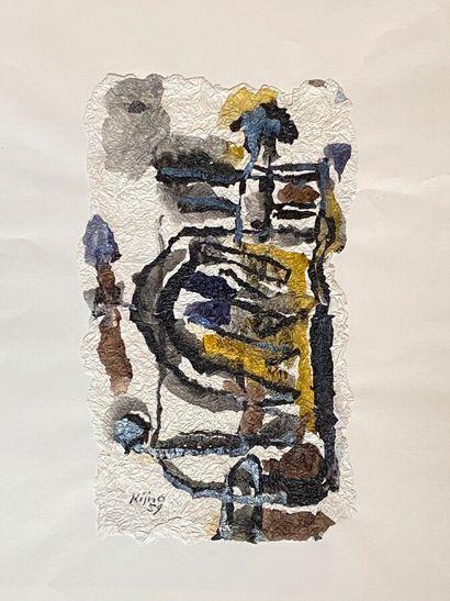 Ladislas KIJNO (1921-2012  Composition abstraite,...