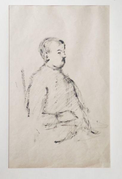 Pierre TAL COAT (1905-1985)  Buste d'homme,...