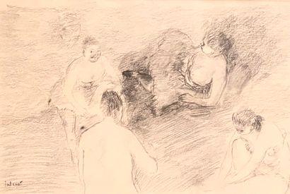 Pierre TAL COAT (1905-1985)  Les baigneuses...