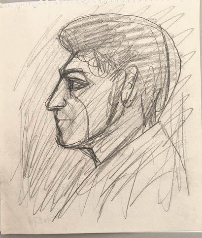 Pierre TAL COAT (1905-1985)  Portrait de...