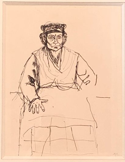 Pierre TAL COAT (1905-1985)  Femme assise...
