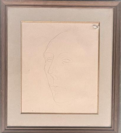 Pierre TAL COAT (1905-1985)  Portrait d'André...