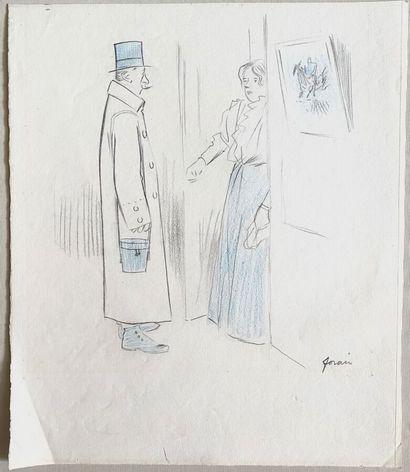 Jean-Louis FORAIN (1852-1931)  La visite...