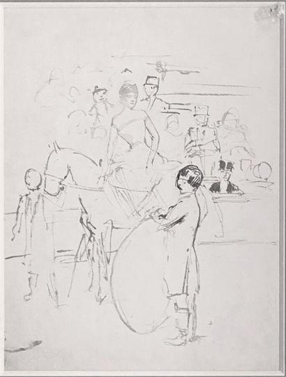 Jean-Louis FORAIN (1852-1931)  L'écuyère,...