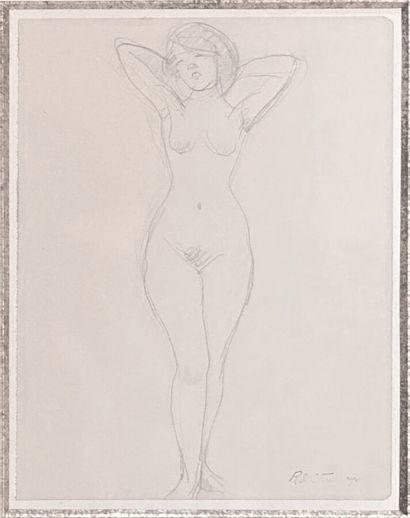 Roger DE LA FRESNAYE (1885-1925)  Nu  Crayon...