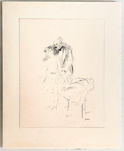Jean-Louis FORAIN (1852-1931)  Homme avec...