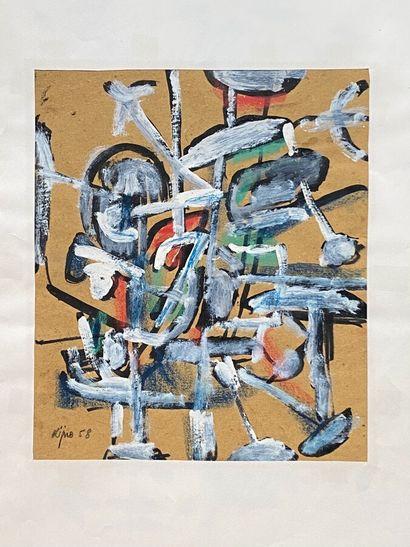 .Ladislas KIJNO (1921-2012)  Composition,...