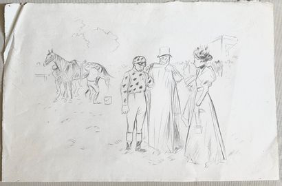 Jean-Louis FORAIN (1852-1931)  Le paddock...
