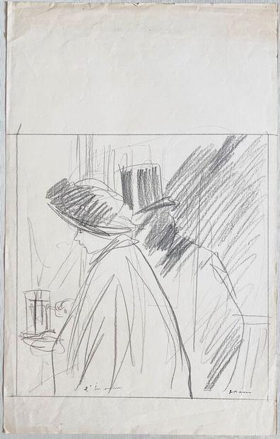Jean-Louis FORAIN (1852-1931)  L'inconnu...
