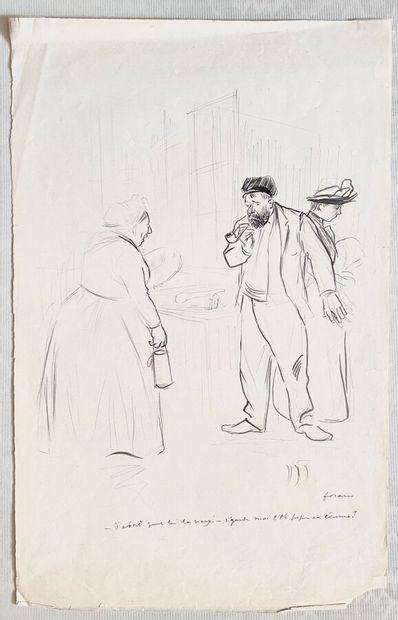 Jean-Louis FORAIN (1852-1931)  D'abord  Encre...