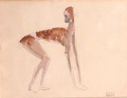 Emmanuel GONDOUIN (1883-1934)  Singe  Crayon...