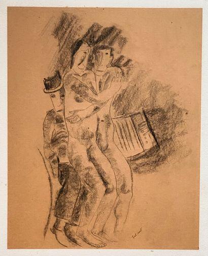 Pierre TAL COAT (1905-1985)  Les amoureux...
