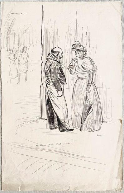Jean-Louis FORAIN (1852-1931)  Elle est bien...